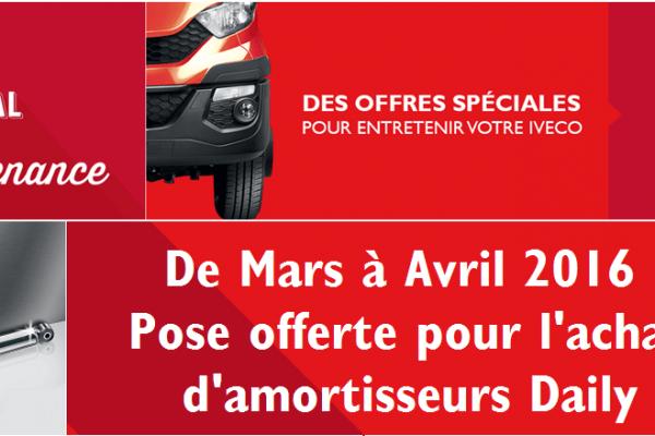 Opérations Iveco good deal, amortisseurs pose offerte garage mullot