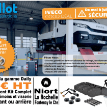 Opération commerciale Freinage Iveco Daily mai-juin 2016