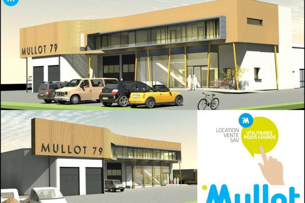 Agrandissement des garages Mullot à Niort